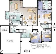 House plan W detail from DrummondHousePlans com    st level bedroom bungalow   fireplace  bonus space and garage   Palmgrove