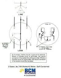 wiring diagrams bay city metering nyc 2 stator 3 wire network socket