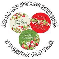 48 x <b>30mm</b> Merry <b>Christmas</b> Stickers, for <b>gifts</b>, envelopes, teachers ...