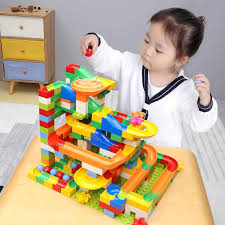 105PCS DIY Construction Marble Race Run <b>Maze</b> Balls High ...