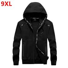 iLXHD Mens Outwear Jacket Letter Style <b>Loose</b> Hooded <b>Large Size</b> ...
