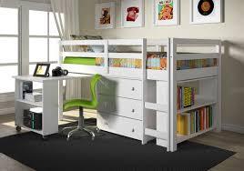 kids furniture set with twin loft bed desk dresser bookcase in one bed desk set