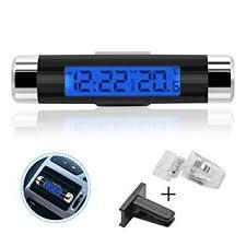 Rumfo <b>Car</b> Auto LCD Display 2 in 1 Mini <b>Car Digital Clock</b> ...