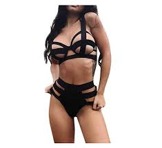 Amazon.com: <b>Women Sexy Hollow Out</b> Bandage G-String Thong ...