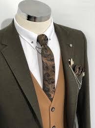 Slim-Fit Suit Vest Khaki | Стиль, Свадьба
