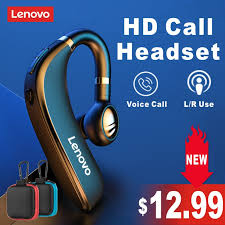 <b>Original Lenovo HX106</b> Bluetooth Earphone Pro Ear Hook <b>Wireless</b> ...