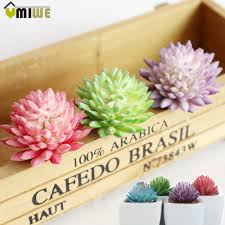 4pcsset modern artificial flower succulent plants green mini potted ornaments with ceramic pot vase for home office decoration artificial plants for office decor