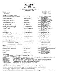 resume j c ernst full resume available upon request
