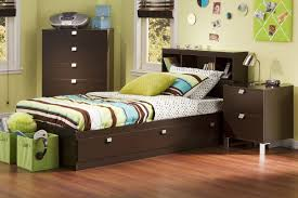 amazoncom south shore cakao kids 3 piece bedroom set with bookcase headboard twin chocolate kitchen dining bed room sets kids