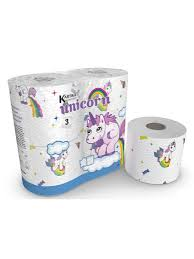 "<b>Туалетная бумага</b> ""Unicorn"", 3-х слойная, 4 рулона, 200 листов ..."
