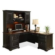 l shaped computer desk with hutch antique black burnished cherry by riverside 1 bathroomoutstanding black staples office furniture lshaped