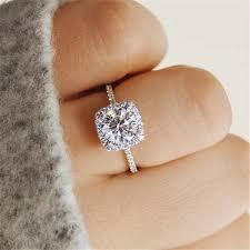 Yobest 2019 New Wedding Rings For Women <b>Square</b> AAA <b>zircon</b> ...