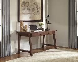wassner dark brown home office large leg desk brown finish home office