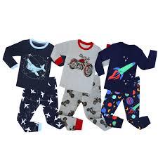 Brand <b>New Baby Boys Cartoon</b> Pajamas Children Motorcycle ...