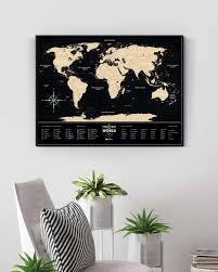 Черная скретч-<b>карта</b> мира <b>Travel Map</b> Black - <b>1DEA</b>.<b>me</b>