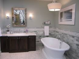 popular cool bathroom color: gorgeous bathroom  wondrous bathroom with freestanding tub showcasing white acrylic soaking freestanding bathtub and wooden vanity bath feat marble counter top also simple mirror with chrome framed inspiration bathrooms