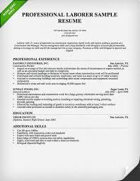 construction worker genius general resume example