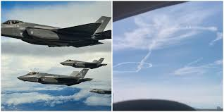 USAF F-35A stealth fighters draw accidental sky <b>penis</b> during ...