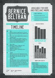examples of creative graphic design resumes   inspirationfeedcv by bernice beltran