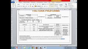 factura proforma factura proforma