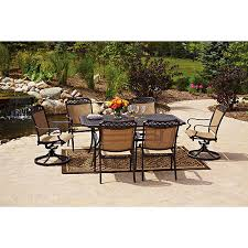 patio table and 6 chairs: better homes and gardens paxton place  piece outdoor dining set seats