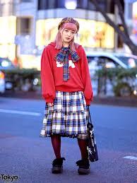 HEIHEI <b>Harajuku Style</b> w/ Skeleton Rabbit Sweatshirt, <b>Plaid</b> Bow ...