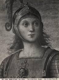 Vannucci Pietro , Fortezza e Temperanza con Lucio Sicinio, Leonida, Orazio Coclide, Scipione, Pericle, Cincinnato - 50943
