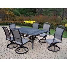 patio dining: oakland living cascade sling  piece dining patio dining set