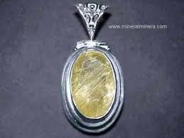 <b>Rutilated</b> Quartz Jewelry: <b>natural golden rutile</b> in quartz crystal jewelry
