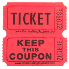 carnival king red part raffle tickets roll main picture