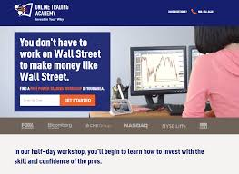 of the best landing page examples critiqued online trading academy landing page example