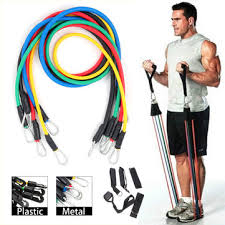 kaload <b>11pcs</b>/<b>set</b> fitness <b>resistance bands</b> sport gym <b>yoga</b> belt body ...