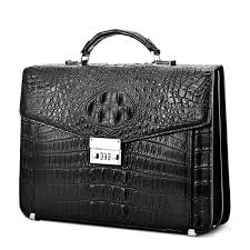 Large Genuine <b>Crocodile Briefcase</b>, <b>Luxury Crocodile</b> Business <b>Bag</b> ...