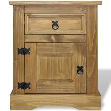 "<b>Bedside Cabinet Mexican</b> Pine Corona 20.9""x15.4""x26.4"" - Walmart ..."