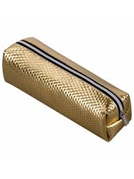 <b>Пенал</b>-косметичка, глянцевый, мягкий, <b>Celebrity Gold</b>, 21х5х6 см ...