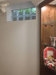 glass block basement window in a man cave basement lighting options 1