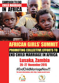 <b>African Girl's</b> Summit on Ending Child Marriage in Africa, Lusaka ...