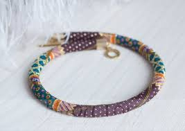 PDF pattern for beaded crochet <b>necklace</b> - <b>Seed beads</b> crochet rope ...