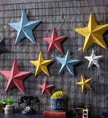 2019 <b>American Country Creative</b> Wrought Iron Five Pointed Star ...