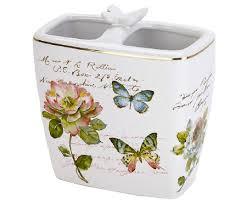 <b>Стакан</b> для зубных щеток <b>Butterfly</b> Garden от <b>Avanti</b> белый ...