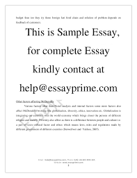 factor impacting business organization essay sample