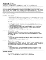 example administrative assistant job resume examples