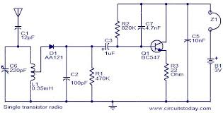 single transistor radio electronic circuits and diagram single transistor radio circuit