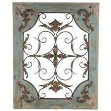 metal wall decor shop hobby: rustic turquoise wood amp metal wall decor