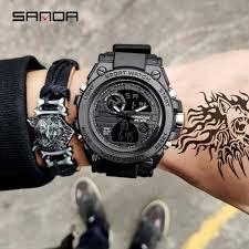 2019 new <b>SANDA</b> men's watch <b>top brand luxury</b> military sports ...