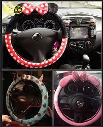 <b>Cute cartoon car</b> steering wheel cover winter plush women girls gift ...
