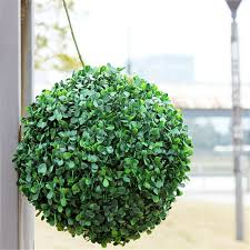 New Arrival 1pcs Modern Plastic <b>Topiary Artificial Leaf</b> Effect <b>Ball</b> ...
