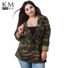 <b>Kissmilk 2018 Plus Size</b> Casual Camouflage Women Coats Large ...