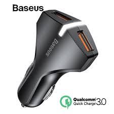 Baseus <b>Quick Charge</b> QC <b>3.0 Dual</b> USB Car Charger For iPhone ...