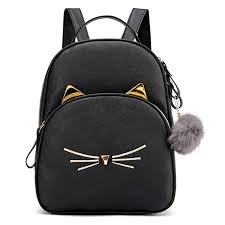 SMILEQ Fashion Backpack Women Students Hairball <b>Solid Color</b> ...